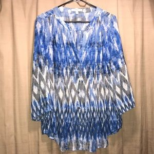 CHAUS new your blouse size large